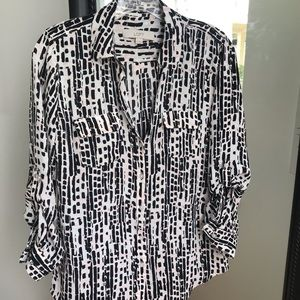 Abstract Work Blouse